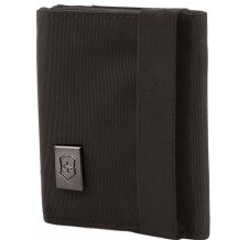 Бумажник VICTORINOX Lifestyle Accessories 4.0 Tri-Fold Wallet, чёрный, нейлон, 9x3x10 см